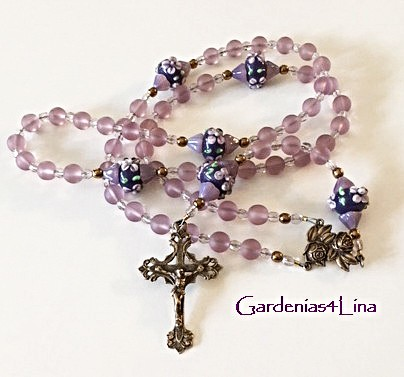 Limited Edition rosary dedicated the Marian prayer, Memorare